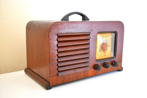 Wood Pre War Vintage 1940 Philco Model 40-120 AM Shortwave Vacuum Tube Radio Early Portable Excellent Condition and Great Sounding!
