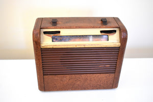 Amazon Echo Ready To Go - Wood Vintage 1948 Philco Model 48-300 Portable AM Vacuum Tube Radio Nice Little Woody!