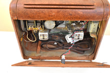 Load image into Gallery viewer, Amazon Echo Ready To Go - Wood Vintage 1948 Philco Model 48-300 Portable AM Vacuum Tube Radio Nice Little Woody!