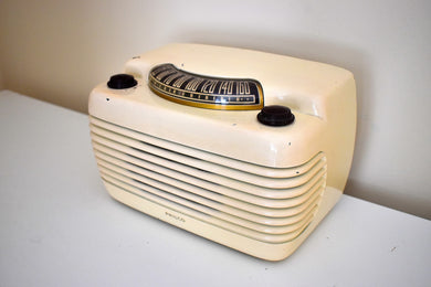 Ivory Bakelite Vintage 1948 Philco Model 48-460 AM Radio Loud as a Hippo!