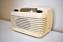 Load image into Gallery viewer, Ivory Bakelite Vintage 1948 Philco Model 48-460 AM Radio Loud as a Hippo!