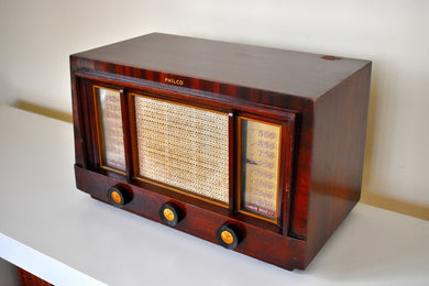 Rosewood 1953 Philco Model 53-958 Rare FM & AM Vacuum Tube Radio Incredible Sound Presence!