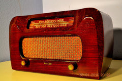 SOLD! - April 11, 2014 - BEAUTIFUL Solid Wood Retro Art Deco Late 40's Philco 46-421 Tube Radio Works! , Vintage Radio - Philco, Retro Radio Farm  - 1