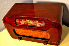 SOLD! - April 11, 2014 - BEAUTIFUL Solid Wood Retro Art Deco Late 40's Philco 46-421 Tube Radio Works! , Vintage Radio - Philco, Retro Radio Farm  - 4