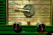 Load image into Gallery viewer, SOLD! - April 14, 2014 - KELLY GREEN Atomic Age Vintage 1955 Philco Model 124 Tube AM Radio WORKS! - [product_type} - Philco - Retro Radio Farm