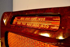 SOLD! - April 11, 2014 - BEAUTIFUL Solid Wood Retro Art Deco Late 40's Philco 46-421 Tube Radio Works! , Vintage Radio - Philco, Retro Radio Farm  - 7