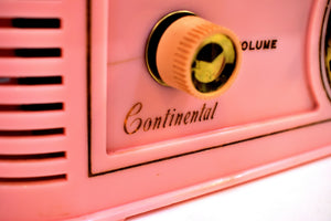 Savoy Pink Golden Age Art Deco 1948 Continental Model 1600 AM Vacuum Tube Clock Radio She's A Bombshell!