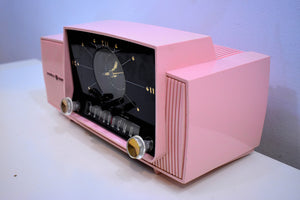 Princess Pink Mid Century 1959 General Electric Model 915 Vacuum Tube AM Clock Radio Beauty Sounds Fantastic!