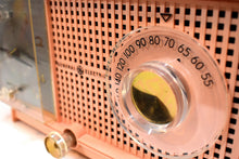 Load image into Gallery viewer, Chiffon Pink Vintage 1959 General Electric Model C437A Vacuum Tube AM Clock Radio Cream Puff!