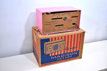 Load image into Gallery viewer, BEHOLD World's Rarest Radio NOS Pink Madison 1948 Model 940 AM Tube Clock Radio Holy Smoke!