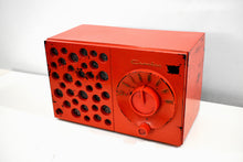 Load image into Gallery viewer, Raconteur Red 1953 Crosley Model JT-3 AM Tube Radio Swiss Cheese Grill, Not Cheesy At All