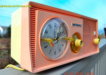 Load image into Gallery viewer, SOLD! - April 15, 2015 - SASSY PINK Retro Jetsons 1957 Motorola 5C14PW Tube AM Clock Radio Totally Restored! - [product_type} - Motorola - Retro Radio Farm