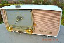Load image into Gallery viewer, SOLD! - March 27, 2014 - TAN and White Retro Jetsons Vintage 1957 RCA 1-X-5KE AM Tube Clock Radio Totally Restored! - [product_type} - RCA Victor - Retro Radio Farm