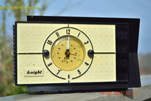 Load image into Gallery viewer, SOLD! - Jan 9, 2016 - SHABBY CHIC Black and White Mid Century Retro Bakelite 50s Knight AM Clock Radio Totally Restored! - [product_type} - Knight - Retro Radio Farm