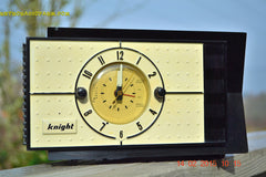 SOLD! - Jan 9, 2016 - SHABBY CHIC Black and White Mid Century Retro Bakelite 50s Knight AM Clock Radio Totally Restored! , Vintage Radio - Knight, Retro Radio Farm  - 5