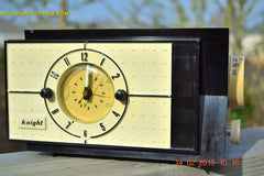 SOLD! - Jan 9, 2016 - SHABBY CHIC Black and White Mid Century Retro Bakelite 50s Knight AM Clock Radio Totally Restored! , Vintage Radio - Knight, Retro Radio Farm  - 4