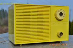 SUNNY BUTTER YELLOW Mid Century Retro Jetsons Vintage 1959 Emerson Model Y2996 Tube Radio Totally Restored! , Vintage Radio - Emerson, Retro Radio Farm  - 5