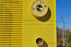 SUNNY BUTTER YELLOW Mid Century Retro Jetsons Vintage 1959 Emerson Model Y2996 Tube Radio Totally Restored! , Vintage Radio - Emerson, Retro Radio Farm  - 7
