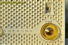 Load image into Gallery viewer, SOLD! - June 15, 2015 - RARE FM ONLY VANILLA WHITE Retro Vintage 1958 Emerson Model 930 Tube Radio WORKS! , Vintage Radio - Emerson, Retro Radio Farm  - 8