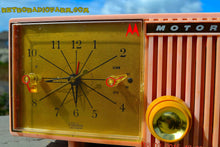 Load image into Gallery viewer, SOLD! - March, 29, 2015 - BLUETOOTH MP3 READY - PRETTY IN PINK Retro Jetsons 1956 Motorola 57CF Tube AM Clock Radio Totally Restored! , Vintage Radio - Motorola, Retro Radio Farm  - 10