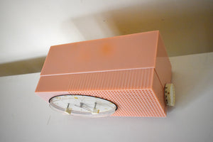 Dolly Pink Retro Space Age 1957 Sylvania Model 6002 Vacuum Tube AM Clock Radio Looks and Sounds Great!