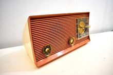Load image into Gallery viewer, Bluetooth Ready To Go - Pink Clay Tan and White 1959 Philco Model J773-124 AM Vacuum Tube Radio Sounds and Looks Great!