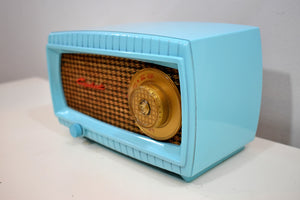 Turquoise and Wicker Vintage 1949 Capehart Model 3T55B AM Vacuum Tube Radio Totally Restored!