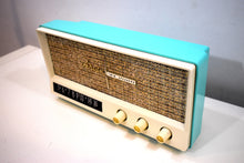 Load image into Gallery viewer, Aquamarine Blue Retro Jetsons Vintage 1959 Arvin 2585 AM Tube Radio Retro Glory!