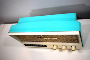Aquamarine Blue Retro Jetsons Vintage 1959 Arvin 2585 AM Tube Radio Retro Glory!