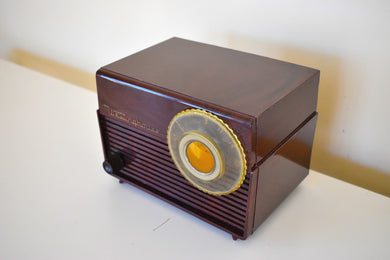 Mocha Marble Swirl Retro Vintage 1953 Westinghouse H-783T5 AM Tube Radio Sounds Great!