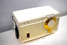 Load image into Gallery viewer, Bluetooth Ready To Go - Pearl White 1958 Philco Model F815-124 Tube AM Radio Sounds Divine!