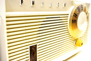 Bluetooth Ready To Go - Pearl White 1958 Philco Model F815-124 Tube AM Radio Sounds Divine!