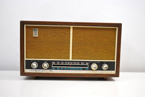 Bluetooth Ready To Go -  Wood and Tan 1966 Admiral Model 3900 AM FM Vacuum Tube Radio Sounds Marvelous Rare