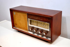 Bluetooth Ready To Go -  Wood 1963 Panasonic Model 782 AM FM Vacuum Tube Radio Rare Early Import High End Model Sounds Great!