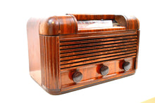 Load image into Gallery viewer, Fancy Veneer Art Deco 1941 RCA Victor Model 26X3 Vacuum Tube Radio Sounds Great Professorial Vibe!