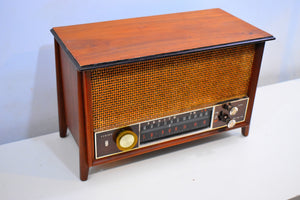Bluetooth Ready To Go -  Wood 1963 Zenith Model K731 AM FM Vacuum Tube Radio Outstanding Condition and Sound!