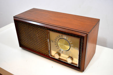 Bluetooth Ready To Go -  Wood 1959 Zenith Model M730 AM FM Vacuum Tube Radio Sounds Fills Room!
