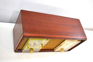 Real Wood Cabinet Mid Century 1963 Zenith Model X390 AM FM Vacuum Tube Clock Radio Excellent Condition!