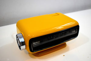 Mellow Yellow Vintage 1970s Sankyo Model 102 Roller Alarm Clock Works Great!