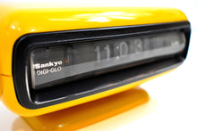 Load image into Gallery viewer, Mellow Yellow Vintage 1970s Sankyo Model 102 Roller Alarm Clock Works Great!