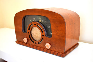Curved Wood 1942 Zenith 6-D-2620 AM Vacuum Tube Radio Super Performer! Excellent Shape!