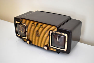 Godiva Gold 1953 Zenith Model L622 AM Vintage Vacuum Tube Radio Gorgeous Looking and Sounding!