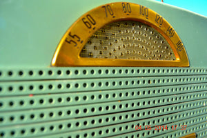 SOLD! - April 14, 2014 - SAGE GREEN Retro Space Age 1953 Philco B652 Portable Tube AM Radio RARE! - [product_type} - Philco - Retro Radio Farm