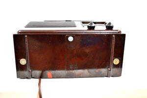 Umber Brown Bakelite 1940 Emerson Model 333 AM Tube Radio Sounds Marvelous!