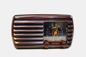 Umber Brown 1942 Zenith Model 5D-611 AM Vacuum Tube Radio Beauty of Bakelite!
