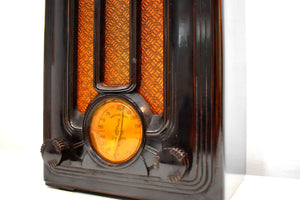 Depression Era Mini Tombstone 1935 Emerson Model 108 Vacuum Tube AM Radio