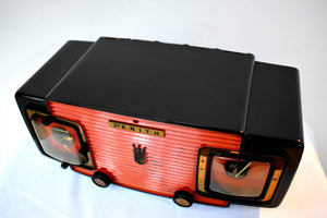 Marzano Red Orange 1953 Zenith Model L622F AM Vintage Tube Radio Gorgeous Looking and Sounding!