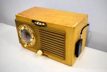 Load image into Gallery viewer, Bluetooth Ready To Go - Blonde 1950 General Electric Model 508 AM Clock Radio Works Great!