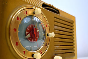 Bluetooth Ready To Go - Blonde 1950 General Electric Model 508 AM Clock Radio Works Great!