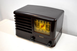 Robusto Brown Bakelite 1941 Emerson Model 330 AM Tube Radio Sounds Marvelous!